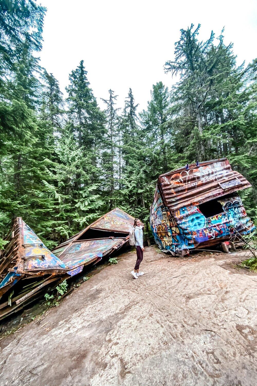 Abandoned train derailment in Whistler BC