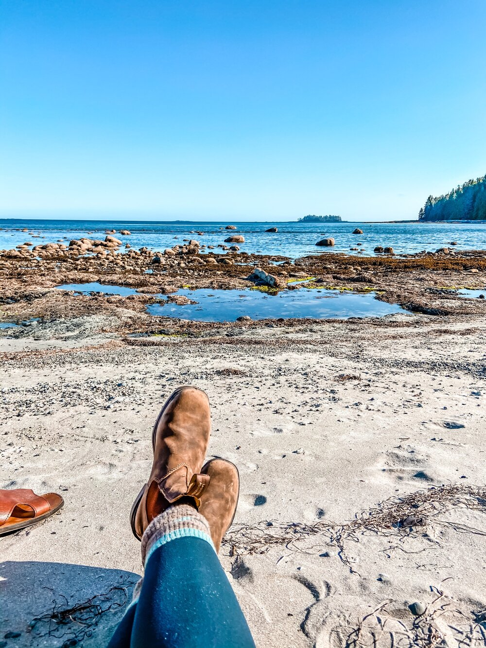 Beach camping in Ucluelet, British Columbia