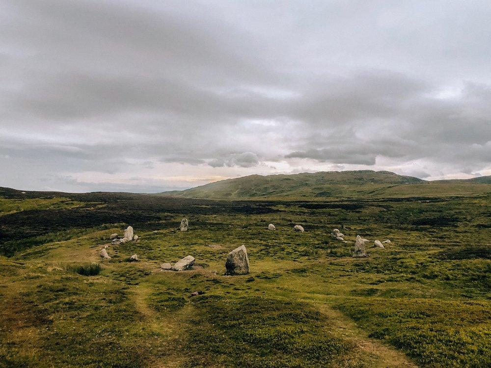 Druid Circle in Snowdonia Wales