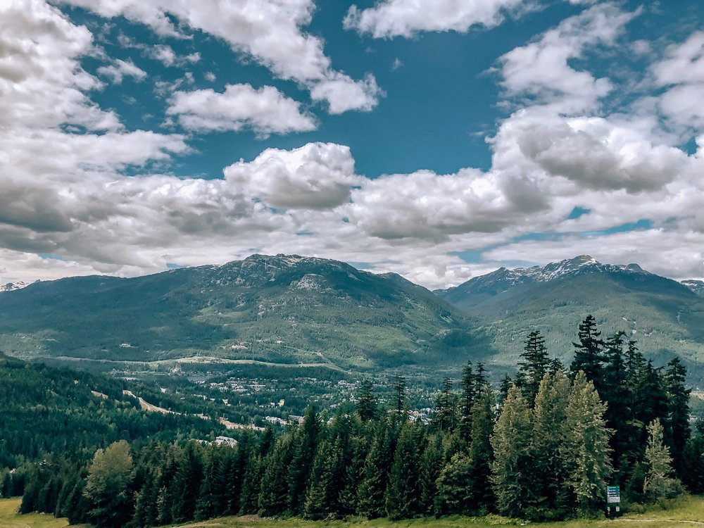 Views of Whistler Coast Mountain range from Whistler Blackcomb Ascent Trail