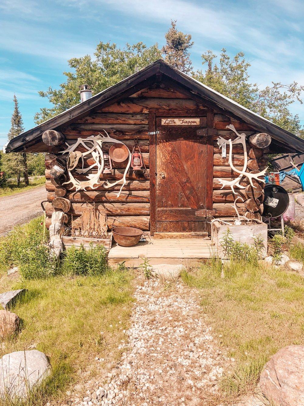 Trapper cabin in Inuvik, NWT Canada's arctic