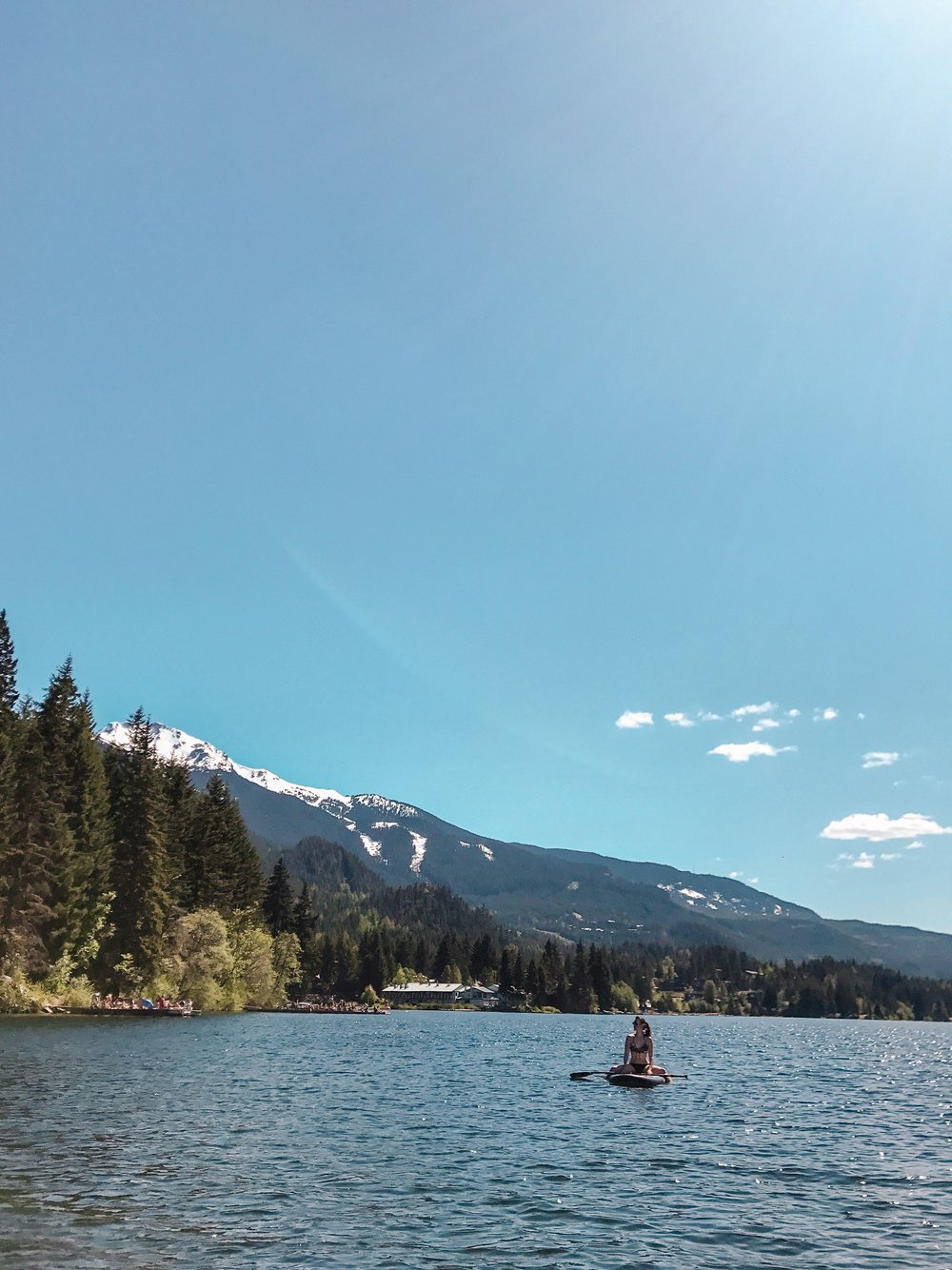Stand up paddle boarding in Whistler Canada