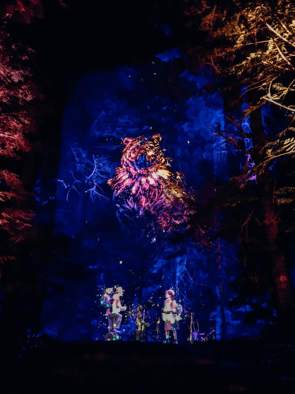 Vallea Lumina Whistler evening family activity