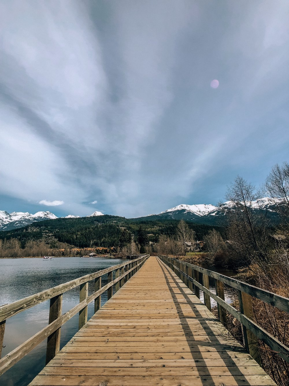 Mountain bike trails to lakes in Whistler BC