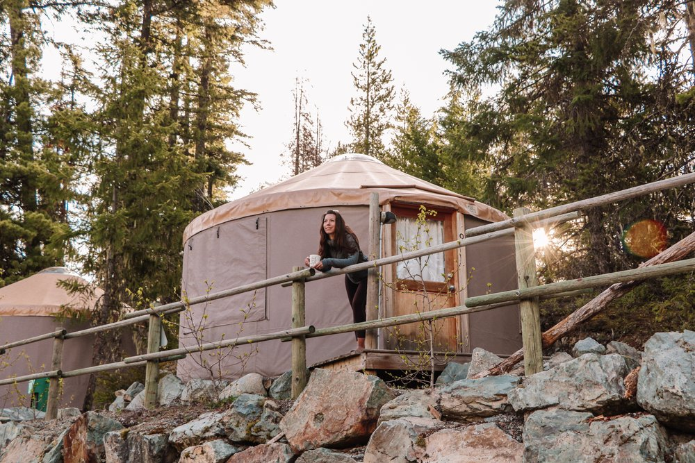 Summer Yurt Glamping in Whistler Canada