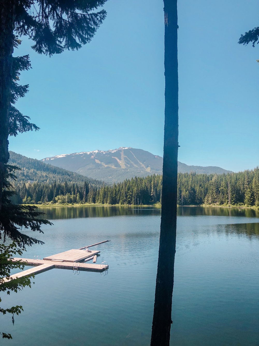 Lost Lake Whistler swimming docks