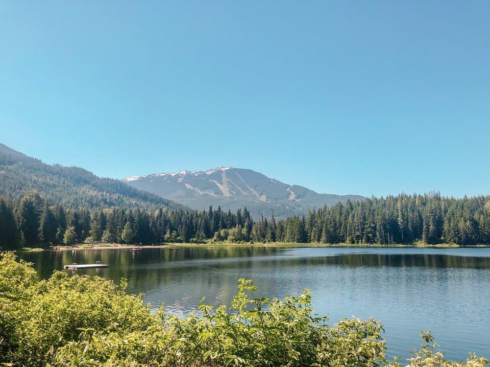 Lost Lake Whistler Mountain Views