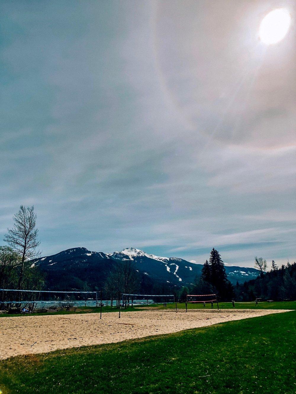 Whistler Beach Volleyball at Rainbow Park Alta Lake Canada