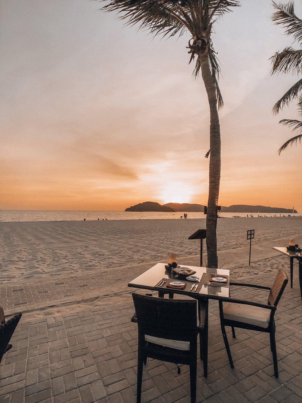 Langkawi Malaysia Beach restaurant