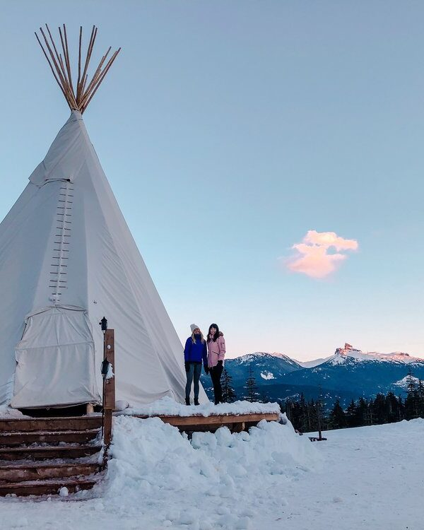 A NEW SNOWSHOE TEEPEE ADVENTURE IN WHISTLER