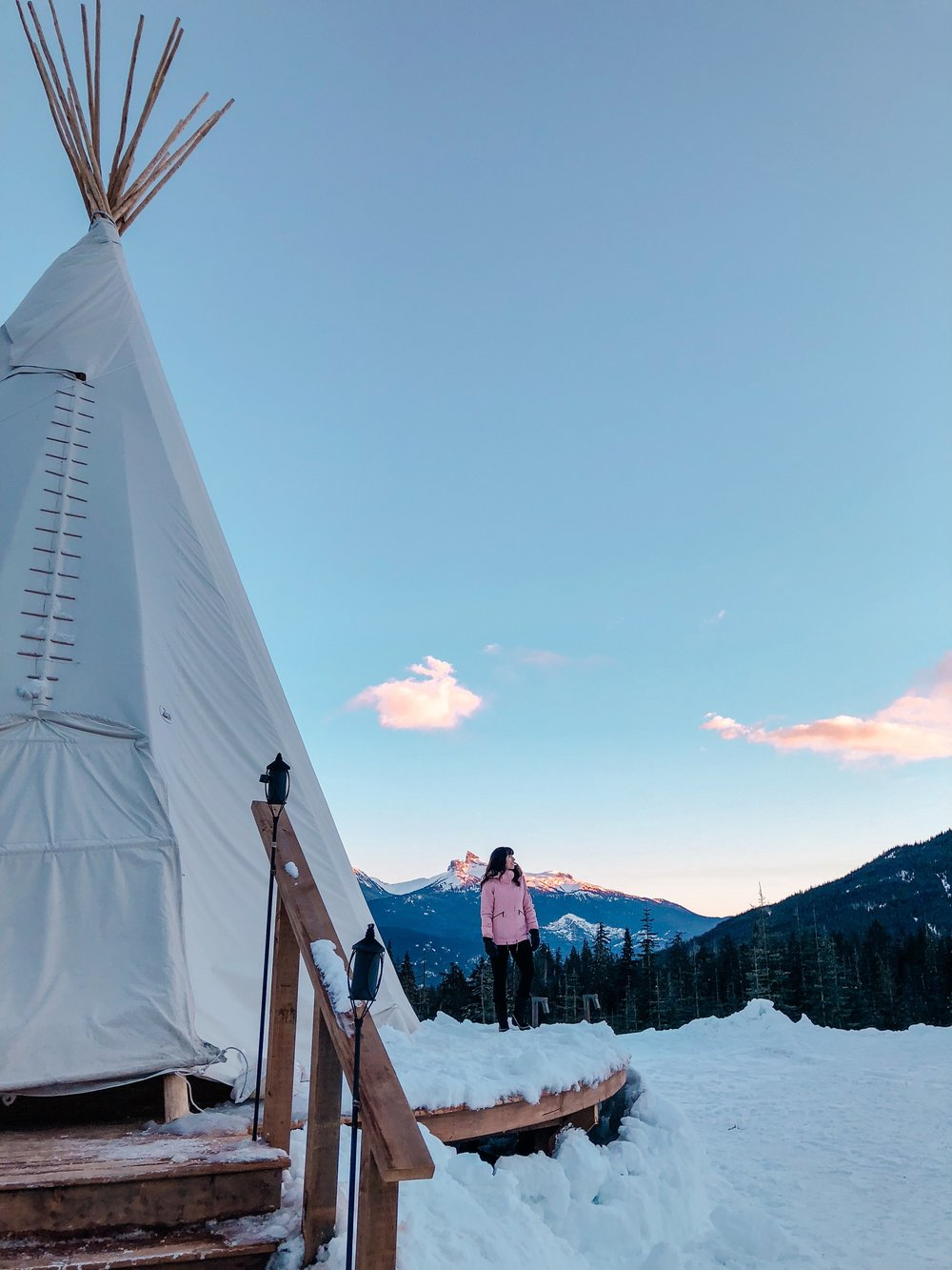 Whistler alpine glow from teepee