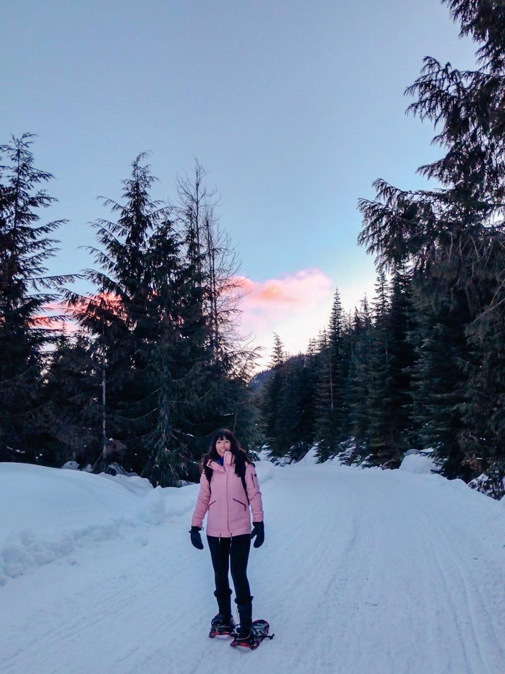 Alpine glow during apres teepee tour