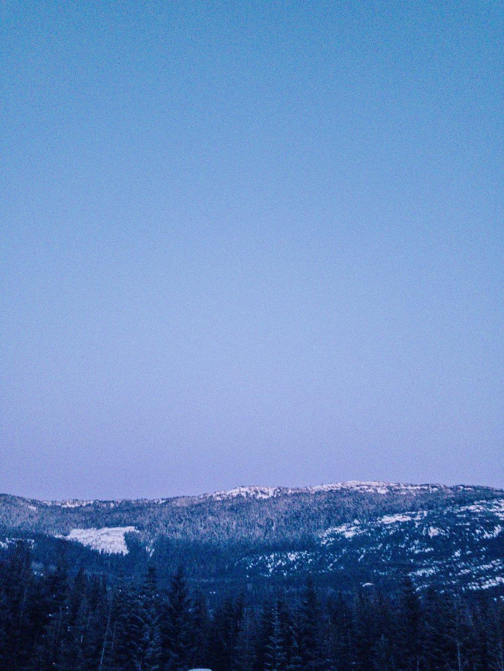 Alpine glow on Whistler mountain range