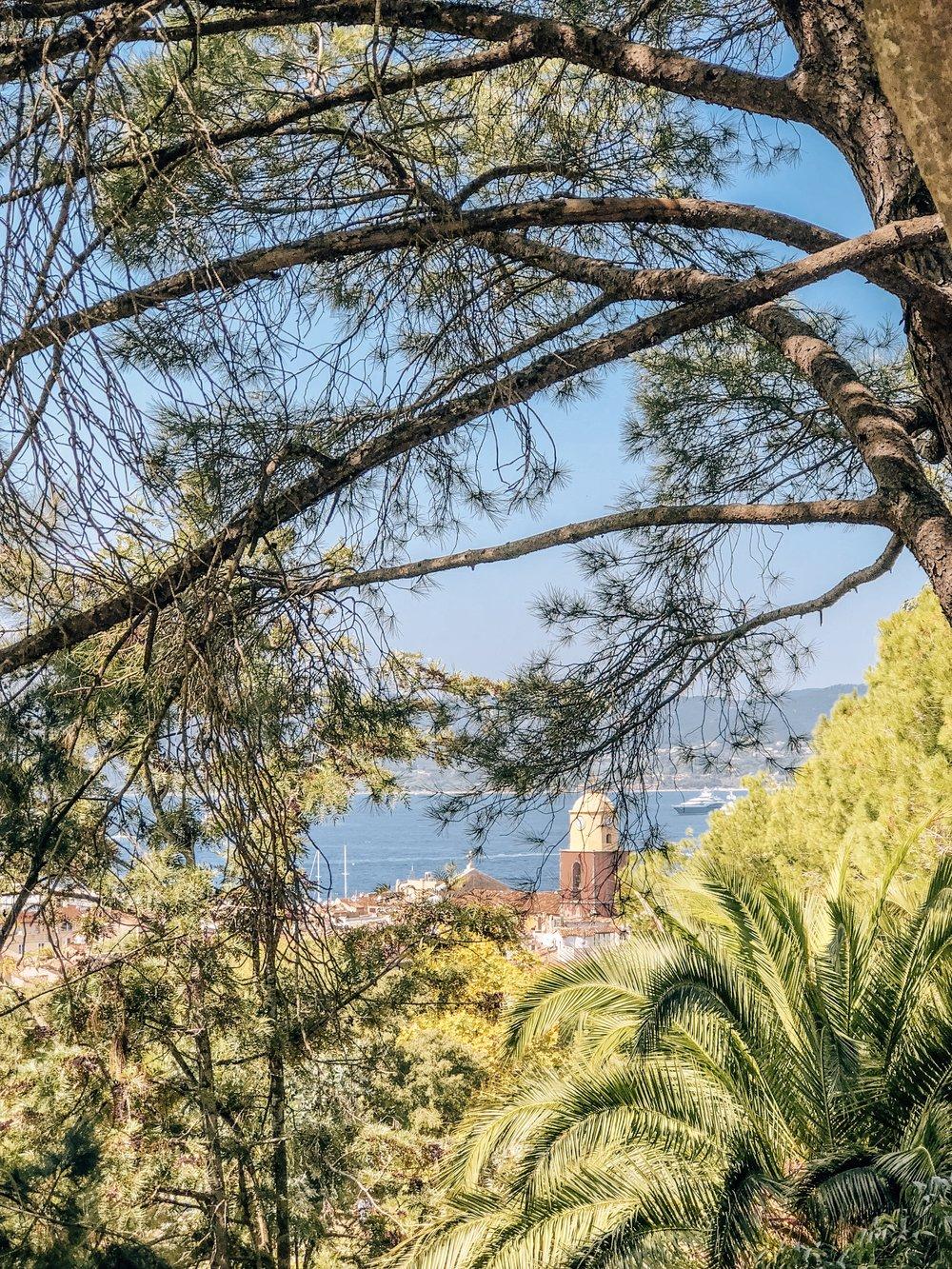Beautiful views of the Mediterranean Sea France