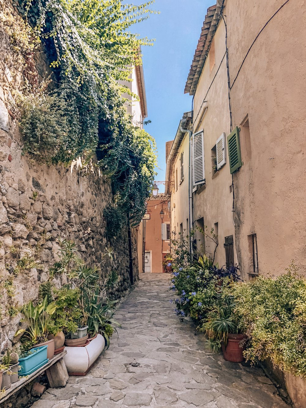 Exploring the streets of Grimaud, France