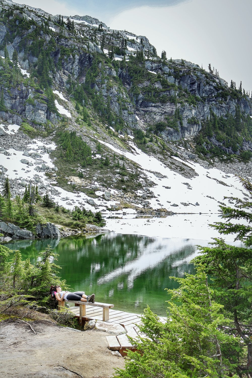 Rest and relaxation at Rainbow Lake