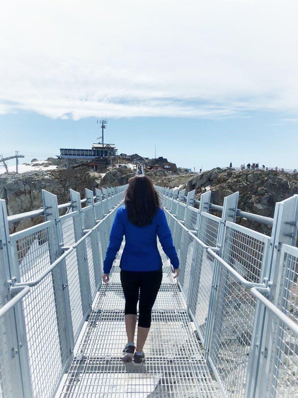 New suspension bridge on Whistler Mountain