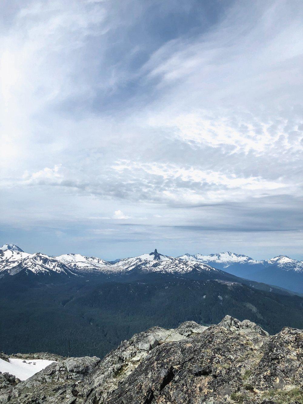 Blacktusk view from Whistler Peak Suspension Bridge