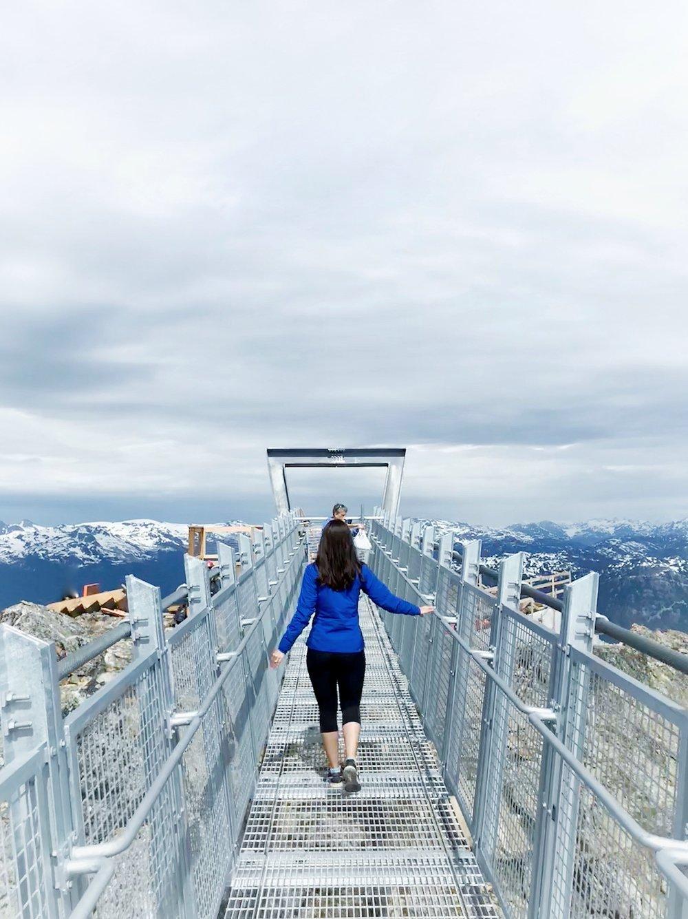 West Ridge platform views on Whistler Blackcomb mountain