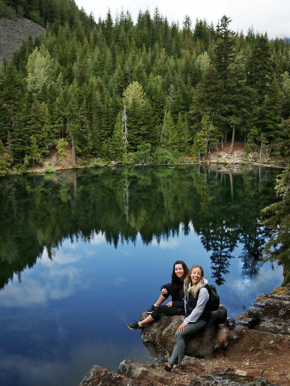 Beautiful lake reflections at Crater Rim Trail Hike Whistler