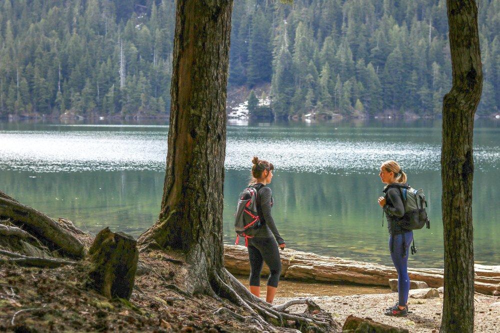 Lunch on Cheakamus Lake Hike in Whistler