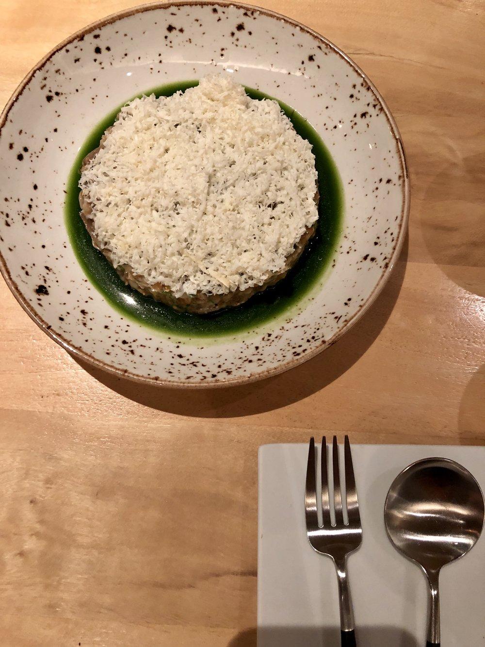 Risotta dish at In Situ SFMOMA