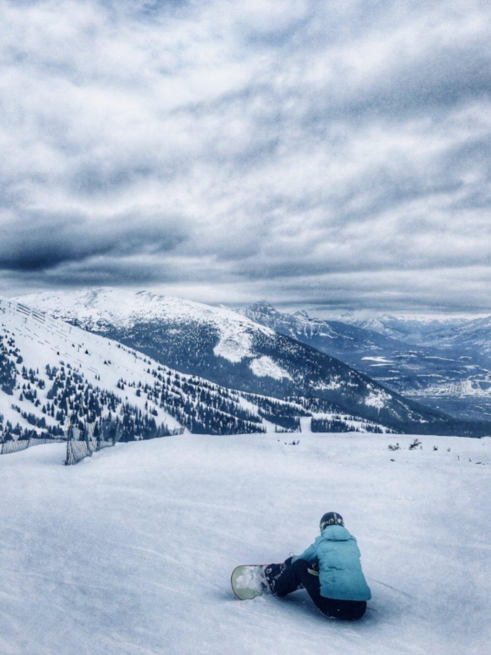 The incredible views while skiing at Marmot Basin