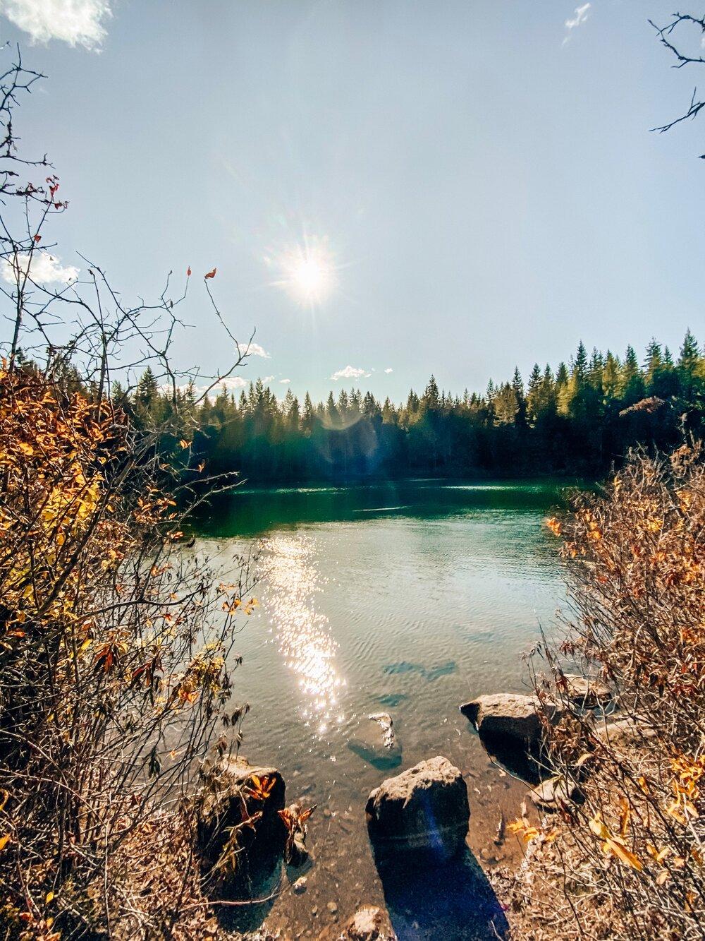 Fawn Lake at Alice Lake Provincial Park near Whistler BC