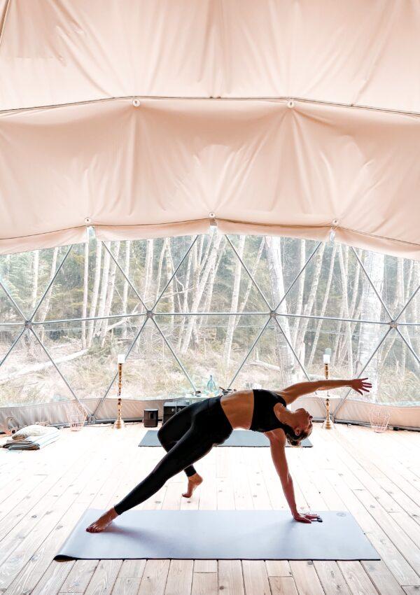 Wild Thing (Rockstar) yoga pose